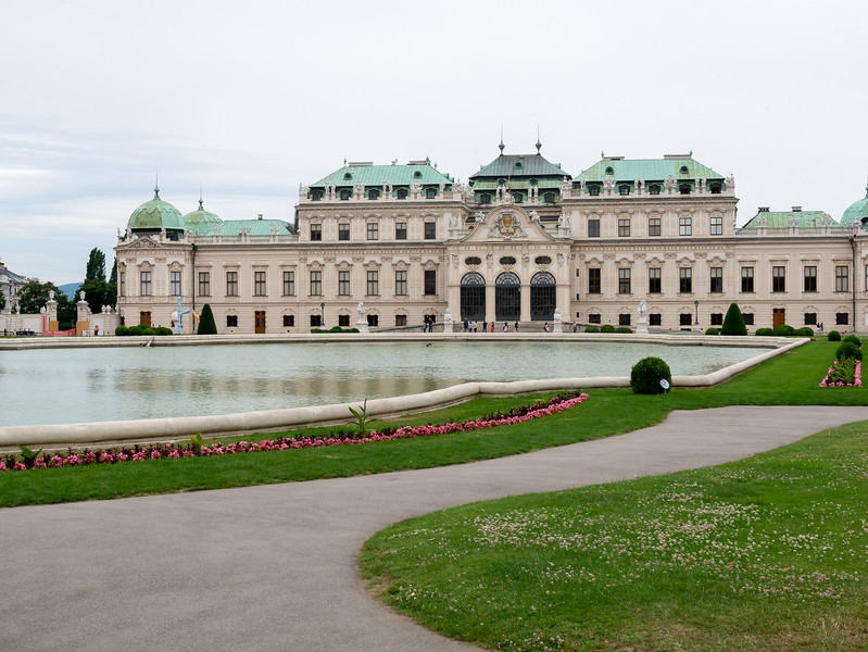 Just outside the entrance is the upper part of Schloss Belevedere.  The grounds are now a public park.