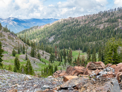 Trinity Alps: Tri Forest to Caribou Lk 1 - June2015