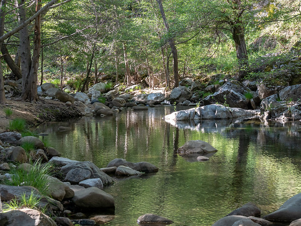 Arroyo Seco.  This pool is just upstream from the crossing.