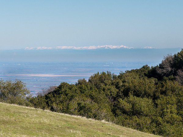 The air was clear enough for distant view to the Sierras, at least straight across.  That's the Crystal Range above Tahoe.