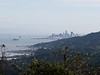 The route has fine, if long,  views out to The City.  Alcatraz Island at the left.  Sausalito below.