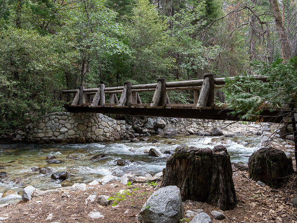 The Bubbs Creek bridge.  (And I'm on the Bubbs Creek Trail.)  After two mostly flat miles, time to start climbing.