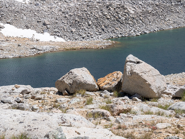 Big Lake 12,250 below the pass.