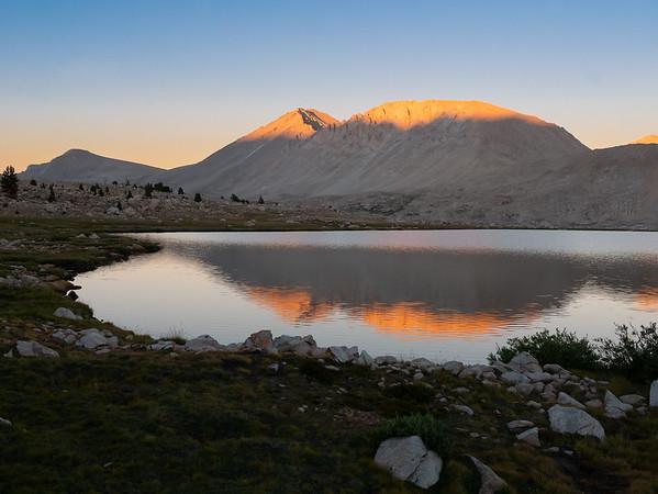 Sunset on Mt Tyndall.