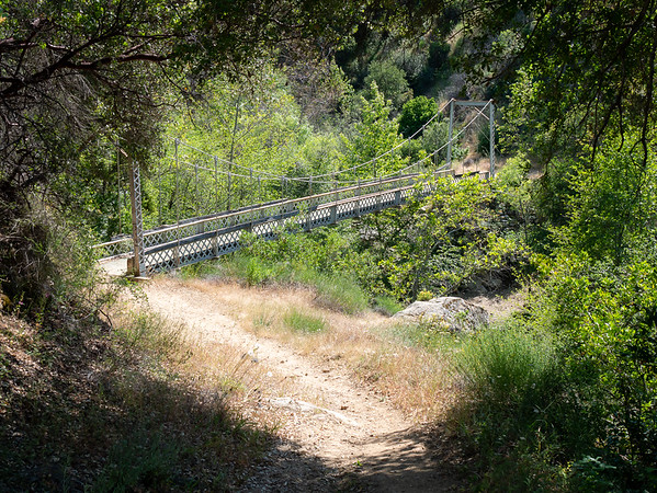 Coming down to the horse bridge over Arroyo Seco.