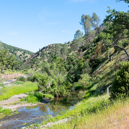 One last view of the Coyote Creek area before the climb.  The trail goes up immediately to the right of the picture.