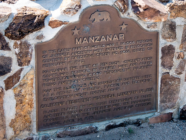 Monday, June 19.  After the hour or so drive down into the Owens Valley, I spent the morning here at Manzanar.  This WWII Japanese Internment Camp is now a National Historic Site operated by the Park Service.