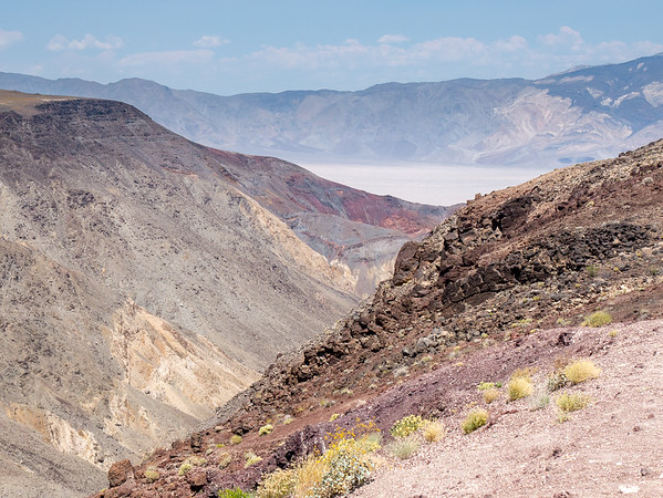 Monday, June 19.  After my morning and early afternoon at Manzanar, I headed east toward the on SR 190.  Father Crowley Overlook.  Panamint Valley below; Cottonwood Mountains beyond.