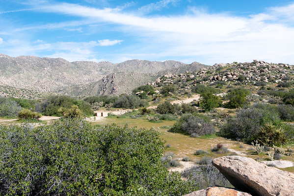 The Culp Valley landscape.  The main turnout supports a primitive campground.