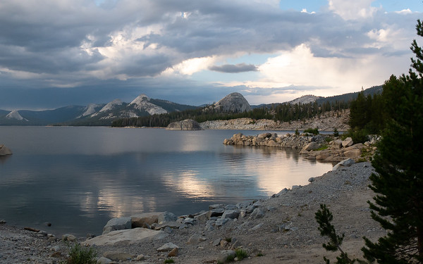 Near sunset on the Courtright Reservoir.