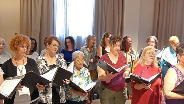 Chorus warmup.  (47 second video -- Click to play.)