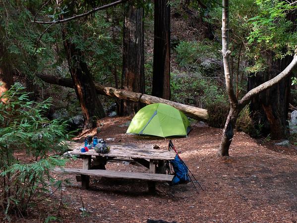 Thursday, April 18.  Villa Creek Camp.  (The next group mixes camp pictures from various days.)