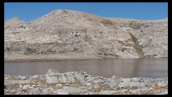 Desolation Lake Panorama.  Only a fair-quality video, but it shows the scope of the place. (64 second video -- click to play -- smoother version at the end of the main gallery page.)