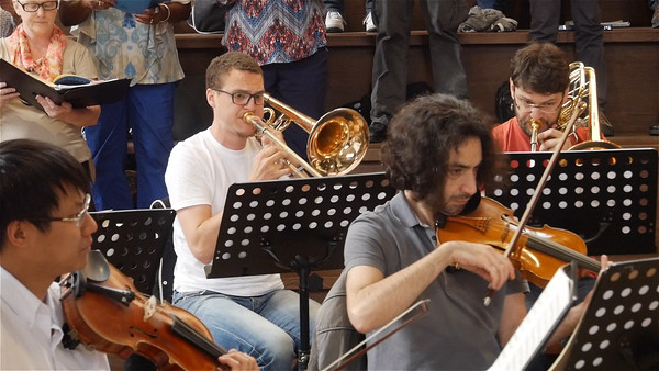A nice bit of trombone (and violin) work in the Kyrie.  (0:23 video -- click to play.)