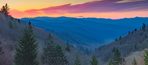 Sunrise Smoky Mountain National Park