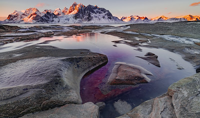 Frozen Sunrise, Vareid, Lofoten