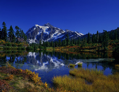 Mount Shuksan Fall Late Afternoon