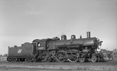 2018.008.CNW.S.0058--bruce meyer 116 neg--C&NW--steam locomotive 4-4-2 D 395--Chicago IL--1954 0911