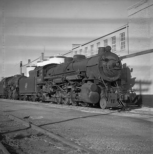 2018.008.CNW.S.0003--bruce meyer 116 neg--C&NW--steam locomotive 2-8-2 J-S 2588 (retired)--Rochelle IL--1956 1123