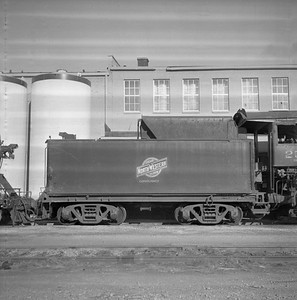 2018.008.CNW.S.0011--bruce meyer 116 neg--C&NW--steam locomotive 2-8-2 J-S 2588 (retired) tender--Rochelle IL--1956 1123