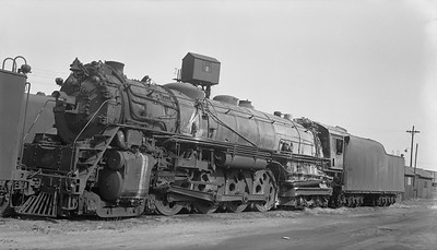 2018.008.CNW.S.0068--bruce meyer 116 neg--C&NW--steam locomotive 4-8-4 H-1--Proviso IL--1953 1018