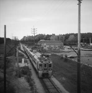2018.008.CSSSB.I.054--bruce meyer 120 neg--CSS&SB--electric interurban eastbound passenger train--Indiana Dunes IN--1988 0828