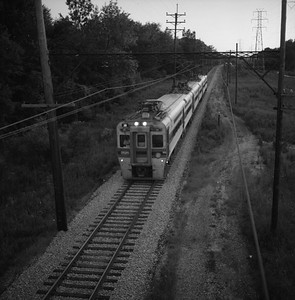 2018.008.CSSSB.I.053--bruce meyer 120 neg--CSS&SB--electric interurban eastbound passenger train--Indiana Dunes IN--1988 0828