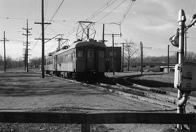 2018.008.CSSSB.I.083--bruce meyer 35mm neg--CSS&SB--electric interurban 106 and 7 on eastbound passenger train--Michigan City IN--1962 1100