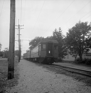 2018.008.CSSSB.I.048--bruce meyer 120 neg--CSS&SB--electric interurban eastbound passenger train--Michigan City IN--1979 0618
