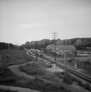 2018.008.CSSSB.I.055--bruce meyer 120 neg--CSS&SB--electric interurban eastbound passenger train--Indiana Dunes IN--1988 0828