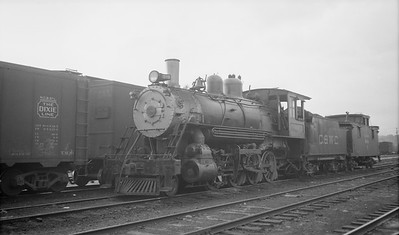 2018.008.CWC.S.03--bruce meyer 116 neg--C&WC--steam locomotive 2-8-0 289 with caboose--Spartanburg SC--1938 0908
