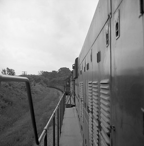 2018.008.CIM.F.086--bruce meyer 120 neg--C&IM--diesel freight train northbound view from cab--Petersburg IL--1959 0610