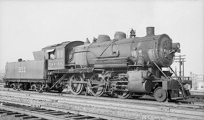 2018 008 CWI S 10--bruce meyer 116 neg [Charles Felstead]--C&WI--steam locomotive 2-6-0 211 at 22nd St--Chicago IL--1947 0726