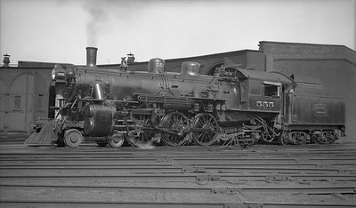 2018.008.DSSA.S.03--bruce meyer 116 neg [Robert Graham]--DSS&A--steam locomotive 4-6-2 555 at Shoreham roundhouse--Minneapolis MN--1937 0712
