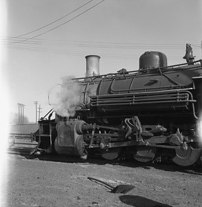 2018.008.DRGW.S.039--bruce meyer 120 neg--D&RGW--narrow gauge steam locomotive 2-8-2 483 detail--Alamosa CO--1961 0311