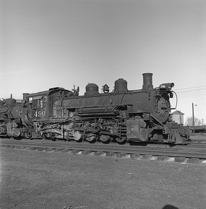 2018.008.DRGW.S.020--bruce meyer 120 neg--D&RGW--narrow gauge steam locomotive 2-8-2 K-37 490--Alamosa CO--1961 0311