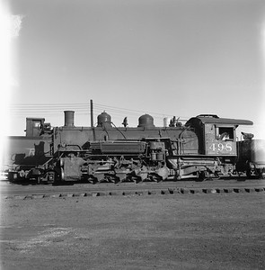 2018.008.DRGW.S.028--bruce meyer 120 neg--D&RGW--narrow gauge steam locomotive 2-8-2 K-37 498 (dead)--Alamosa CO--1961 0311