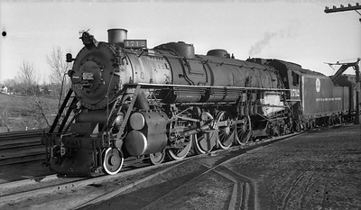 2018.008.DRGW.S.002--bruce meyer 116 neg--D&RGW--steam locomotive 4-8-4 M-64 1712 taking water--Colorado Springs CO--1940 0316