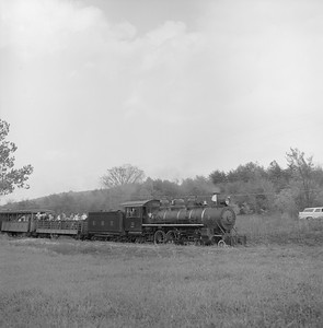 2018.008.EBT.S.07--bruce meyer 120 neg--EBT--steam locomotive 2-8-2 12 with passenger excursion train southbound--near Rockhill PA--1960 1016