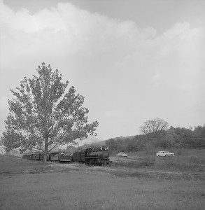 2018.008.EBT.S.06--bruce meyer 120 neg--EBT--steam locomotive 2-8-2 12 with passenger excursion train southbound--near Rockhill PA--1960 1016