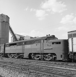 2018.008.GMO.D.128--bruce meyer 120 neg--GM&O--ALCO diesel locomotive 290 (retired and turned in to EMD)--McCook IL--1963 0406