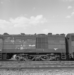 2018.008.GMO.D.122--bruce meyer 120 neg--GM&O--ALCO diesel locomotive 271 (retired and turned in to EMD) detail--McCook IL--1963 0406