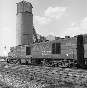 2018.008.GMO.D.124--bruce meyer 120 neg--GM&O--ALCO diesel locomotive 271 (retired and turned in to EMD)--McCook IL--1963 0406