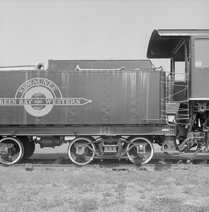 2018.008.GBW.S.215--bruce meyer 120 neg--GB&W--steam locomotive 2-8-0 49 on display detail at museum--North Freedom WI--1988 0529
