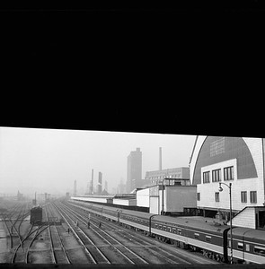 2018.008.IC.PD.01964--bruce meyer 120 neg--ICRR--passenger train City of New Orleans at 12th Street passenger station--Chicago IL--1958 0618