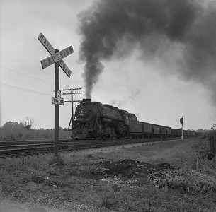 2018.008.IC.S.1016--bruce meyer 120 neg--ICRR--steam locomotive 2-10-2 2808 on eastbound coal freight train action--east of Princeton KY--1957 0715