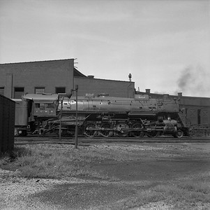 2018.008.IC.S.0982--bruce meyer 120 neg--ICRR--steam locomotive 2-10-2 2816 scene at roundhouse--Paducah KY--1957 0715