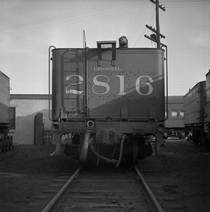 2018.008.IC.S.0701--bruce meyer 120 neg--ICRR--steam locomotive 2-10-2 2816 tender rear view--Paducah KY--1957 0202