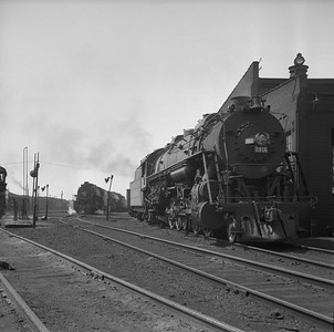 2018.008.IC.S.0987--bruce meyer 120 neg--ICRR--steam locomotive 2-10-2 2816 scene at roundhouse--Paducah KY--1957 0715