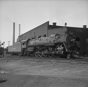 2018.008.IC.S.0990--bruce meyer 120 neg--ICRR--steam locomotive 2-10-2 2816 scene at roundhouse--Paducah KY--1957 0715